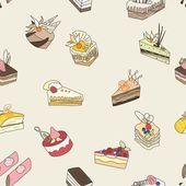 Cake vector pattern — Stock Vector