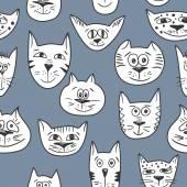 Vettore del reticolo di gatti — Vettoriale Stock