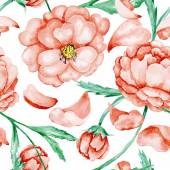 Red wild roses pattern — Foto Stock