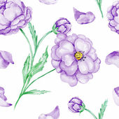 Seamless background with purple flowers — Stock Photo