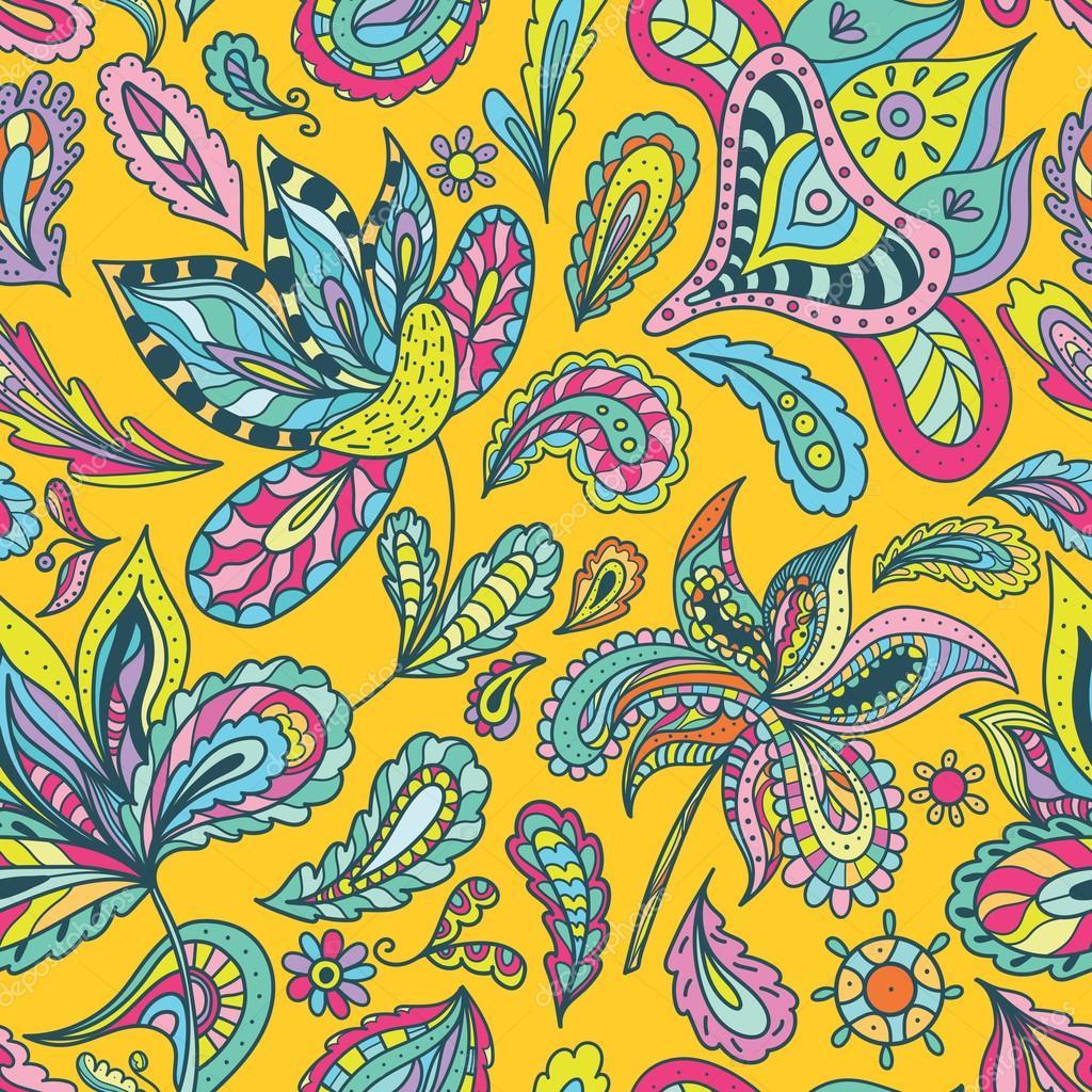 bright indian summer pattern stock vector kisika1 69178323. Black Bedroom Furniture Sets. Home Design Ideas
