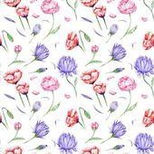 水彩画の花のパターン — ストック写真