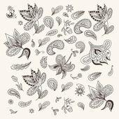 Indian Henna Design Elements — Stock Vector