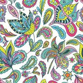 Summer Pattern with Indian Motifs — Vettoriale Stock