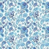 Blue Fresh Indian Vector Pattern — Stock Vector