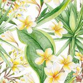 Egzotyczne rośliny wzór — Zdjęcie stockowe