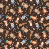 Vector Smiling Monkey Texture — Stock Vector