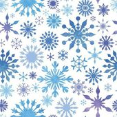 Vector Snowflakes Pattern — Stock Vector