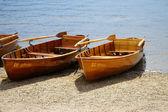 Rowboats on the banks of Lake Titisee — Stock Photo