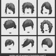 ������, ������: Vector set of womens hairstyles