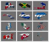 Flags in the form of states — Vector de stock