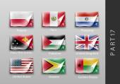 Set of flags of the countries — Stock Vector