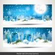 рождественские баннеры — Cтоковый вектор #52518895