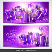 Christmas banenrs — Stock Vector