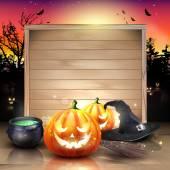 Modern Halloween greeting card — Stock Vector