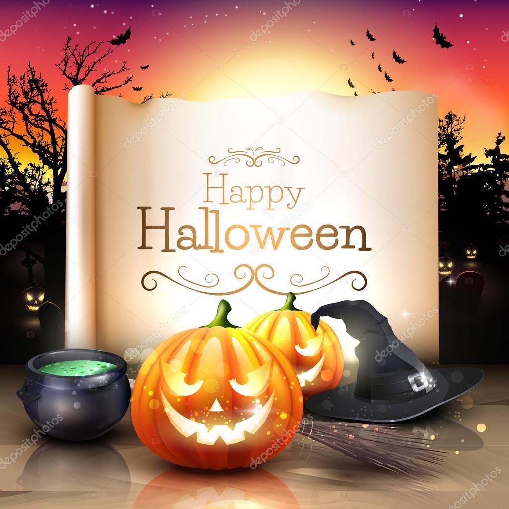 Фото открытки с хэллоуином