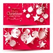 Christmas banners - flat design style — Stock Vector #56668559