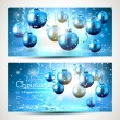 Blue Christmas banners — Vector de stock  #58592713