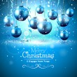 Luxury blue Christmas greeting card — Vetor de Stock  #58592867