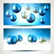 Blue Christmas banners — Stock Vector #58593003