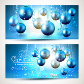 Blue Christmas banners — Stock Vector