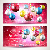 Colorful Christmas banners — Stock Vector