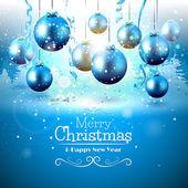 Luxury Christmas greeting card — Stock Vector