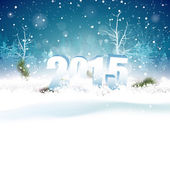 New Year greeting card — Stock Vector