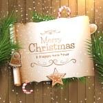 Christmas greeting card — Stock Vector #59444731