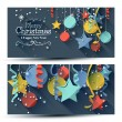 Christmas banners - flat design style — Stock Vector #59445239