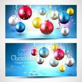 Christmas colorful banners — Stock Vector