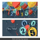 New Year banners — Vettoriale Stock