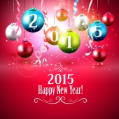 2015 Happy New Year — Stock Vector
