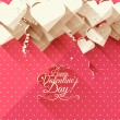 Valentine's Day greeting card — Stock Vector #63057773