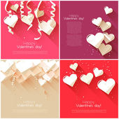 Valentine's Day greeting cards — Vetorial Stock