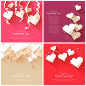 Valentine's Day greeting cards — Stock Vector