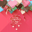 Valentine's Day greeting card — Stock Vector #65912105