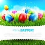 Paskalya tebrik kartı — Stok Vektör #65932953
