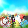 Back to school background — Vettoriale Stock  #71986381