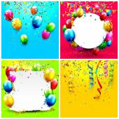 Birthday backgrounds  — Stock Vector