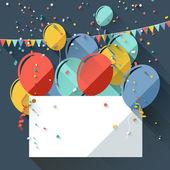 Birthday greeting card — Stock Vector