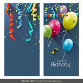 Birthday banners — Stock Vector