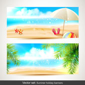Summer holiday banners — Stock Vector