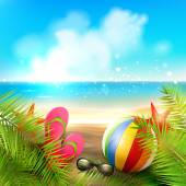 Summer holidays — Stock Vector