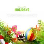 Summer holidays — Stock Vector