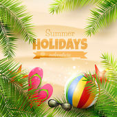 Summer holidays background — Stock Vector