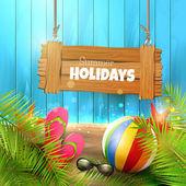 Summer holidays background — Stockvector