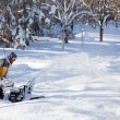 Winter snow blowing — Stock Photo #72098535