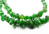 Chrome diopside semiprecious beads necklace — Stock Photo