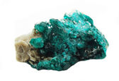 Dioptase geode geological crystals  — Stock Photo